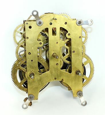 Ansonia 8 Day Time And Strike Clock Movement - For Parts Or Repair - Ri06