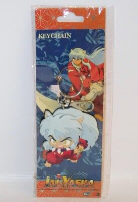 "InuYasha in Action Figure 3"" Rubber Key Chain Chibi Anime Manga Keychain 2005"