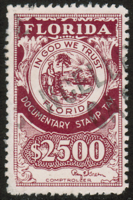 US 25 Florida Documentary Stamp Tax In God We Trust