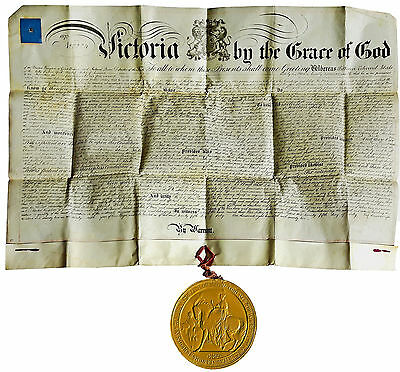 1872 Guns - Rifles - VELLUM FIREARMS PATENT - HUGE WAX SEAL - New York Inventor