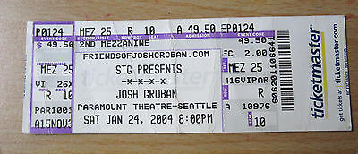 Josh Groban 2004 Original Concert Ticket