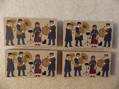 Cat's Meow Village Accessory - set/lot of 4 Salvation Army Band pieces