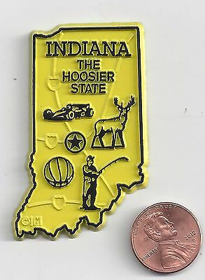 Indiana  In    The Hoosier State   Outline Map Magnet , New