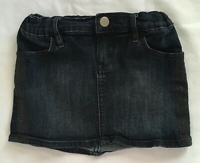 Gap Denim Skirt Girls Sz 5 Blue Jean Adjustable Waist