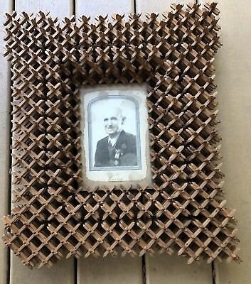 "American Antique Crown Of Thorns Tramp Folk Art 3 Layer 16"" X 18"" Picture Frame"