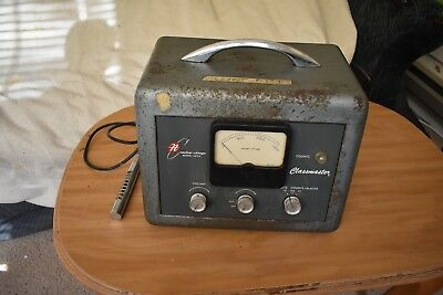 Atomic Age 1954 Nuclear Chicago Vacuum Tube Ratemeter Geiger Counter - 1613A USA