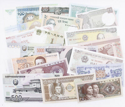 20 Pcs of Different World MIX Banknotes Currency Uncirculated Real Paper Money