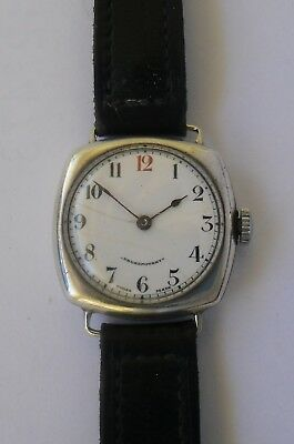 Dreadnought Silver Cushion Watch 1917 WWI Trench Watch Plata .925 Repair Reparar