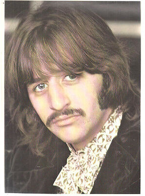 RINGO STARR Vintage Color Printed Photo 8 X 10 1 2 Beatles