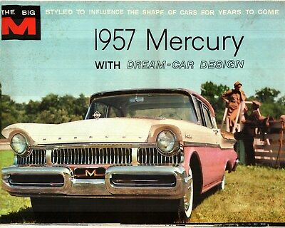 1957 Mercury Factory Issued Deluxe Color Sales Brochure