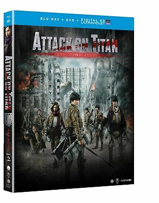 Attack On Titan : The Movie Part 2 BLU RAY + COVER  (NO REGULAR DVD; NO HD CODE)
