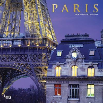 Paris 2019 12 x 12 Inch Monthly Square Wall Calendar with Foil Stamped Cover,