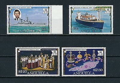 Anguilla  271-4 MNH, Silver Jubilee 1977