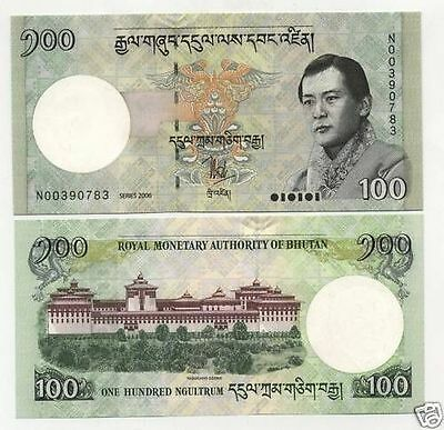 Bhutan 100 Ngultrum 2006 Pick 32 UNC Uncirculated Banknote