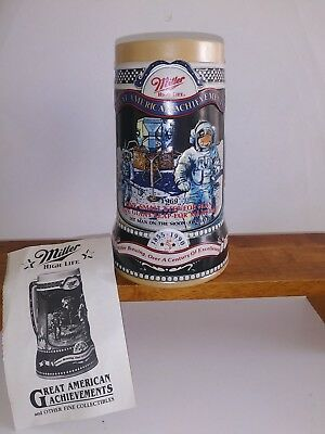 Miller High Life Great American Achievements - NASA Man On The Moon Beer Stein