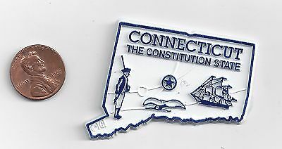 Connecticut  Ct  The Constitution State  Outline Map Magnet, New
