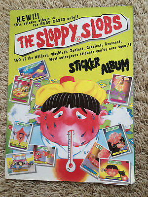 Sloppy Slobs Stickers & Sticker Album UNUSED - COMPLETE SET 1993