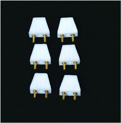 6 Pack Standard Size Male Plugs for 12 volt Dollhouse Miniature Lights #HW2204
