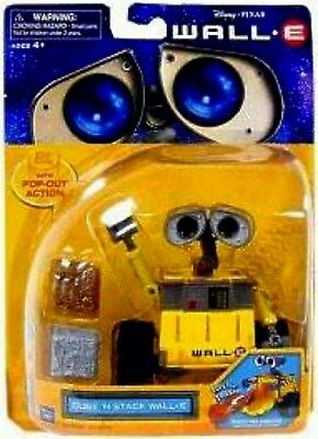 """Disney  Pixar 5"""" WALL-E Cube 'N stack New Factory Sealed 2008"""