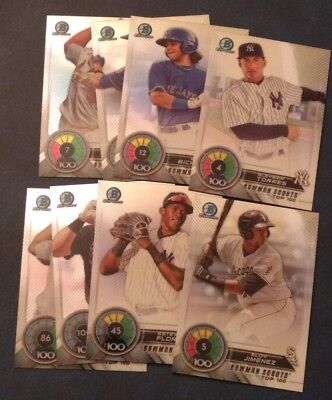 2018 Bowman Chrome Scouts Top 100 You Pick From List BTP-1 to BTP-100