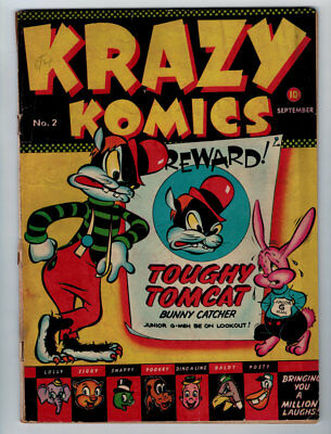 Krazy Komics #2 3.0 Timely Comics 1942 Off-White Pages