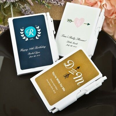 50-200 Personalized Baby Shower White Notebook Favors