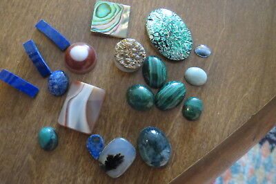 Moss Agate Abalone Malachite Druzy & other natural and created gemstones Loose