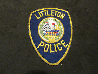 Littleton New Hampshire Police Patch (Ship In Center Version)