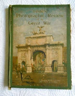 """Book WW I Leslie's  Photographic Review 1920 1st Edition 1919 Copyright 10""""x14"""""""