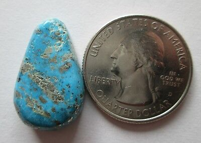 20.40 ct. 100% Natural Persian Turquoise Cabochon Gemstone with Pyrite, # EK 004