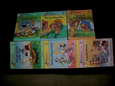 1990 Set Of (18) Walt Disney Mickey's Young Readers Library Bantam Books~2-19.