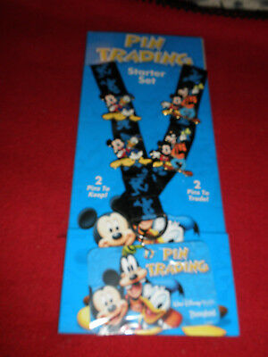 Disney Friends are Forever Pin Set Lanyard and 4 pins New Mickey Goofy Donald