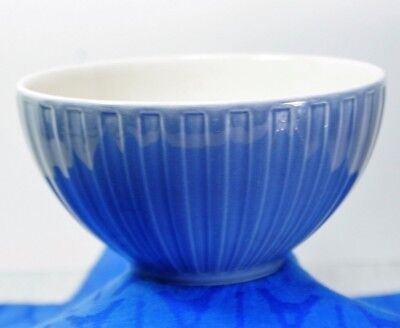 """RARE! WEDGWOOD Weekday Weekend BLUE Ribbed Soup or Cereal Bowl(s) 5 3/4"""" EXC!"""