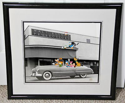 WALT'S CONVERTIBLE Ltd Ed Framed Sericel & 1948 Photo (Walt Disney Co, 1992) COA