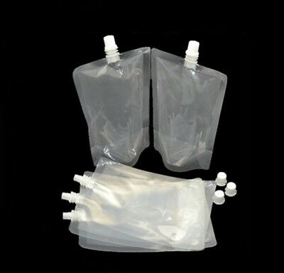 Stand Up 500ml Pouch Drinks Bag Smuggle Booze Cruise Festival Camping Genuine UK