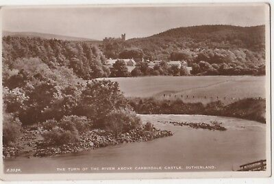 The Turn Of The River Above Carbisdale Castle Sutherland RP Postcard B794
