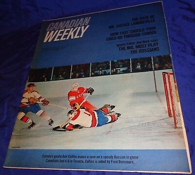 BR1587 Vtg 1965 Toronto ON Star Canadian Weekly NHL Play Russia 20 Pages