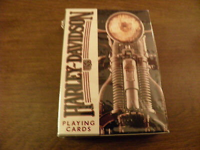 Harley Davidson - Playing Cards - 243-R - U.S. Playing Card - Sealed/New - USA