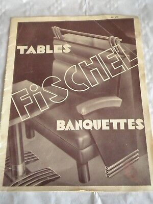 Vintage catalogue Furniture for restaraunts cafes Fischel 1930s art deco