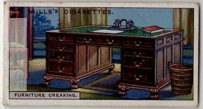 Why Wood Furniture Creak During The Night 90+  Y/O Ad Trade Card
