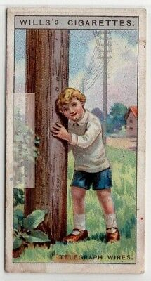 Humming And Singing Of Telegraph And Telephone Wires 90+  Y/O Ad Trade Card