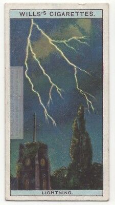 Lightning Electrostatic Discharge Thunderstorm Cloud Bolt 95+ Y/O Trade Ad Card