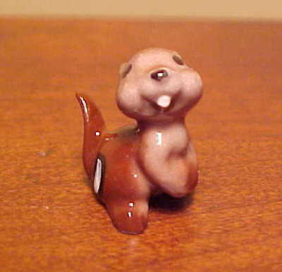 Hagen-Renaker Mini #334 BABY CHIPMUNK - Miniature Ceramic Figurine