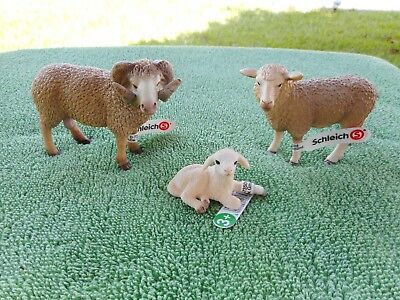 SHEEP FAMILY by Schleich/ toy/ replica/ 13743/13726/13745/ram/ewe/lamb/NEW