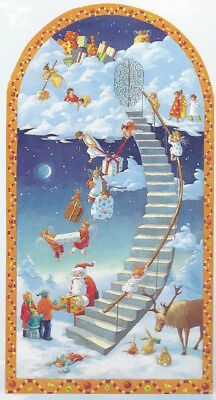 Staircase to Heaven Angels Extra Large German Advent Calendar 32 cm x 60 cm