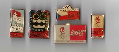 Five (5) Coca Cola Coke Various Olympics Italia 90 Pins Bulk Lot - Freepost