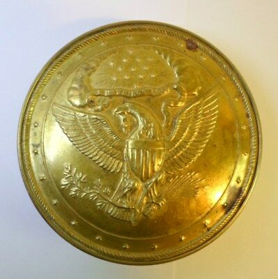 BRASS AMERICAN EAGLE BOX MMA Metropolitan Museum Reproduction E Pluribux Unum 5""