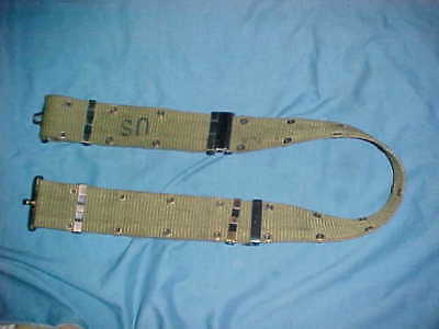 USGI MILITARY LARGE PISTOL BELT w/ BRASS BUCKLES