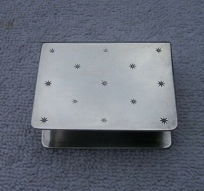 Fine CHRISTOFLE French Silverplate MATCHBOX COVER-Star Pattern-NR