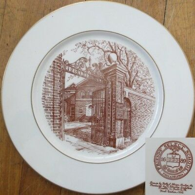 Friends' Select School 1952 Plate by Betty L. Heiges- First Edition-Philadelphia